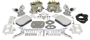 Empi Dual 40 Hpmx Vw Type 3 Carb Kits With Chrome Air Cleaners 47 7341