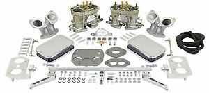 Empi Dual 44 Hpmx Vw Type 3 Carb Kits With Chrome Air Cleaners 47 7342