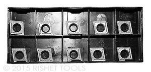 Rishet Tools Ccmt 32 52 C2 Uncoated Carbide Inserts For Cast Iron 10 Pcs