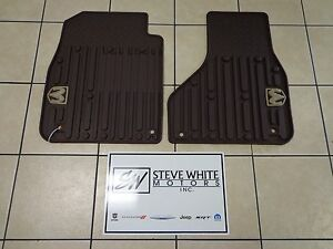 09 18 Dodge Ram Trucks New All Weather Front Floor Mats Regular Cab Brown Mopar