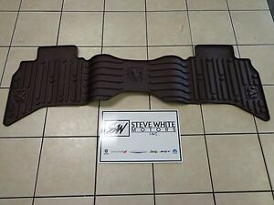 13 18 Dodge Ram 1500 New Rear All Weather Slush Mat Quad Cab Canyon Brown Mopar