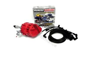 Sbc Chevy 350 Hei Distributor With Moroso Plug Wires 90 Degree Complete Kit