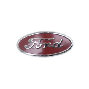 8n16600a Red Gray Hood Emblem Fits Ford New Holland Tractor 8n