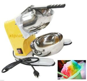 New Snow Cone Maker Machine Crusher Electric Ice Shaver W Dual Stainless Blade