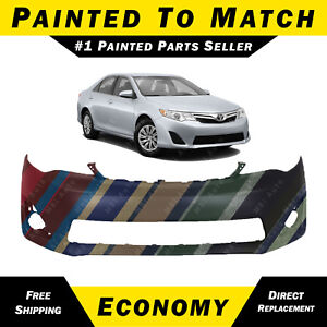 New Painted To Match Front Bumper Fascia For 2012 2014 Toyota Camry Xle L E