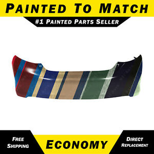 New Painted To Match Rear Bumper Cover Replacement For 2012 2014 Toyota Camry