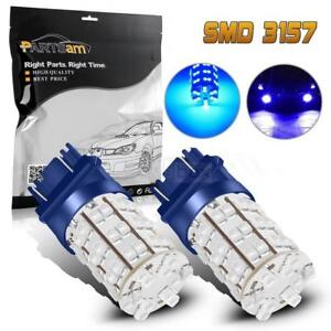 2x Hid Blue Led Backup Light Lamp Reverse Bulbs 60 Smd 3157 3757 4114 4157 3156
