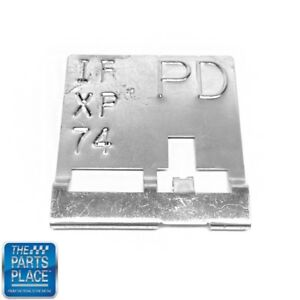 1970 Pontiac Gto Ram Air Iv Radiator Tag Code Pd If Xp 74