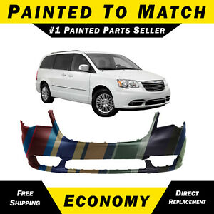 New Painted To Match Front Bumper Cover For 2011 2016 Chrysler Town Amp Country Fits 2011 Chrysler Town Amp Country