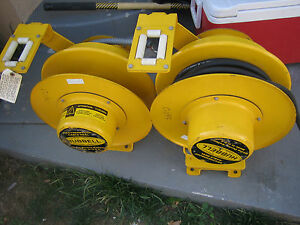 Hubbel Lot Of Two Used Cord Reel Weatherproof 10 3 Soow a One 50 Lf Cable