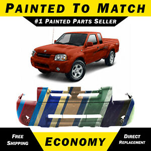 New Painted To Match Front Bumper Cover For 2001 2004 Nissan Frontier Truck