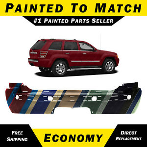 New Painted To Match Rear Bumper For 2005 2010 Jeep Grand Cherokee W Tow Pkg