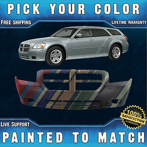 New Painted To Match Front Bumper Cover Fascia For 2005 2006 2007 Dodge Magnum