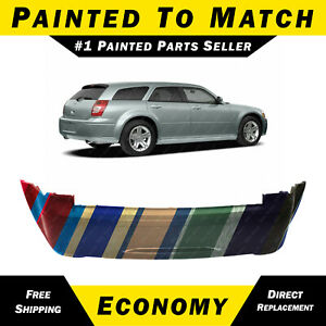 Painted To Match Rear Bumper Cover For 2005 2007 Dodge Magnum W Dual Exhaust