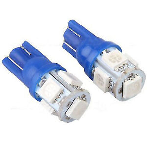 2 Pieces Super Blue T10 Led License Plate Tag Light Bulbs 10 Led Smd