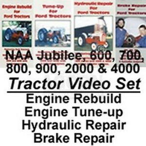 Ford Tractor Naa Jubilee 600 700 800 900 2000 4000 Repair Service Dvd Set