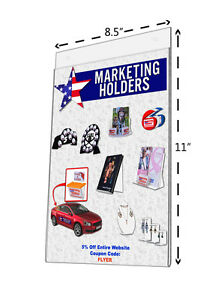 Literature Brochure Holder Wall Display Sign Frame 8 1 2 X 11 Clear Wholesale