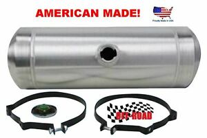 9 Gallon 10x26 Center Fill Spun Aluminum Gas Tank Ratrod Sandrail 3 8 Npt