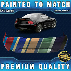 New Painted To Match Rear Bumper Cover For 1999 2004 Ford Mustang Gt Mach 1