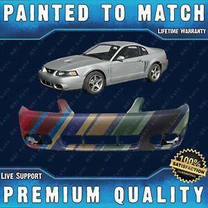 New Painted To Match Front Bumper Replacement For 2003 2004 Ford Mustang Cobra