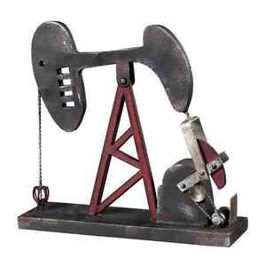 Oil Rig Well Pump Accessory Industrial Decor Oil Field Art Statue Gas Petroleum