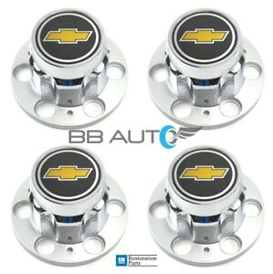 Chevrolet Chevy Gmc Truck 6 Lug 15 15x8 Rally Wheel Center Hub Cap Caps Set New