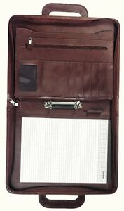 Fancy Leather Binder Folder Portfolio Organizer With Handles As A Gift For Bus