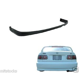 1999 2000 Civic 2 4 Door Type R Pu Black Add On Rear Bumper Lip Spoiler