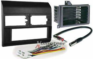 Gm Truck Pickup Black Car Stereo Radio Kit Dash Install Mounting Panel Pocket