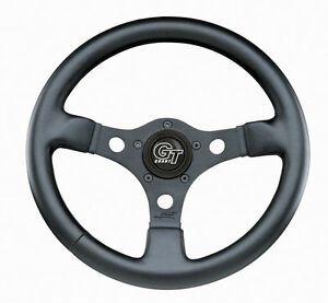 Vw Bug Ghia Formula Gt Steering Wheel Black 3 spoke 12 3 Dish 79 4038