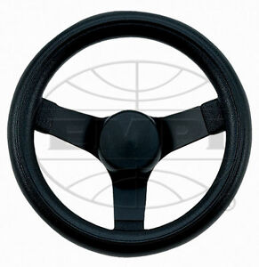 Steering Wheel Black 10 1 4 2 1 2 Dish Rat Rod Hot Vw Buggy Sand Rail 79 4052