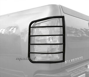 For 2007 2014 Chevy Silverado excl 2014 1500 2pc Black Tail Light Guards