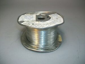 Silver Plated Copper Wire 26 Awg 0 4mm Craft Wire 3 000 Feet 7505701 8 Nos