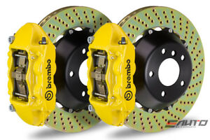 Brembo Front Gt Bbk Big Brake Kit 4pot Yellow 365x29 Drill Disc Audi S3 8p 06 12