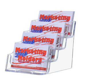 54 4 Pocket Desktop Countertop Business Card Display Holder New Wholesale Lot