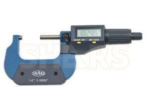 Shars 1 2 0 00005 Digital Electronic Outside Micrometer Carbide Tip New A