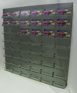 48 Pocket Smoked Acrylic Wall Mount With Clear Business Card Holders