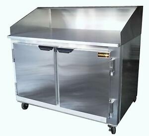 48 New Us made Two 2 Door Refrigerated Dough Retarader Pizza Prep Table