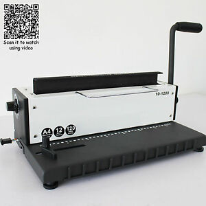 34holes Punching Binding Machine All Steel Metal Spiral Coil Binder Puncher