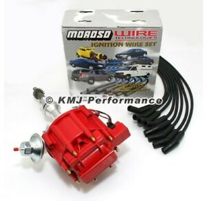 Small Block Ford 289 302 Complete Hei Distributor Red Cap Moroso Race Wires 135
