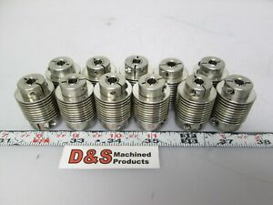 Lot Of 11 Ruland Motor Couplers 6mm To 7 16 Id 35 3mm Length