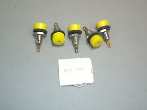 20 Pieces Of Tip Jack Test Point Receptacle Yellow 202 107 Hh Smith Abbatron New