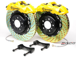 Brembo Front Gt Brake Bbk 6piston Yellow 380x32 Drill Disc Rotor Ford Gt 04 06