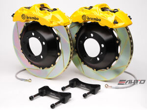 Brembo Front Gt Brake Bbk 6piston Caliper Yellow 355x32 Slot Disc Mustang 94 04