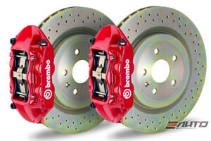 Brembo Front Gt Brake Bbk 4pot M Caliper Red 355x32 Drill Disc Mustang 05 13