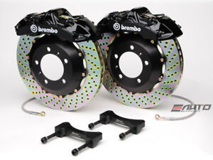 Brembo Front Gt Brake Bbk 6piston Black 355x32 Drill Disc Rotor Mustang 05 13