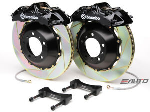 Brembo Front Gt Brake Bbk 6piston Black 355x32 2pc Slot Disc Rotor Mustang 05 13