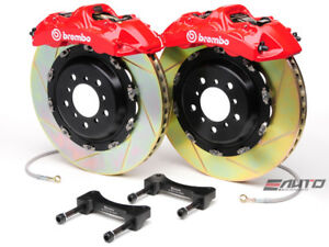 Brembo Front Gt Big Brake Bbk 6pot Red 380x32 2pc Slot Disc Rotor Mustang 05 13