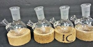 Chemglass 100ml Flask Cg 1515 Round Bottom W 24 40 Joint Lot Of 4