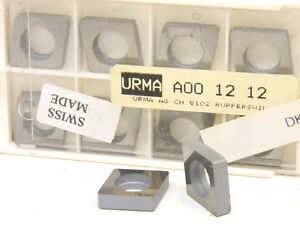 10 New Surplus Command Urma A00 12 12 Carbide Insert Shims Seats